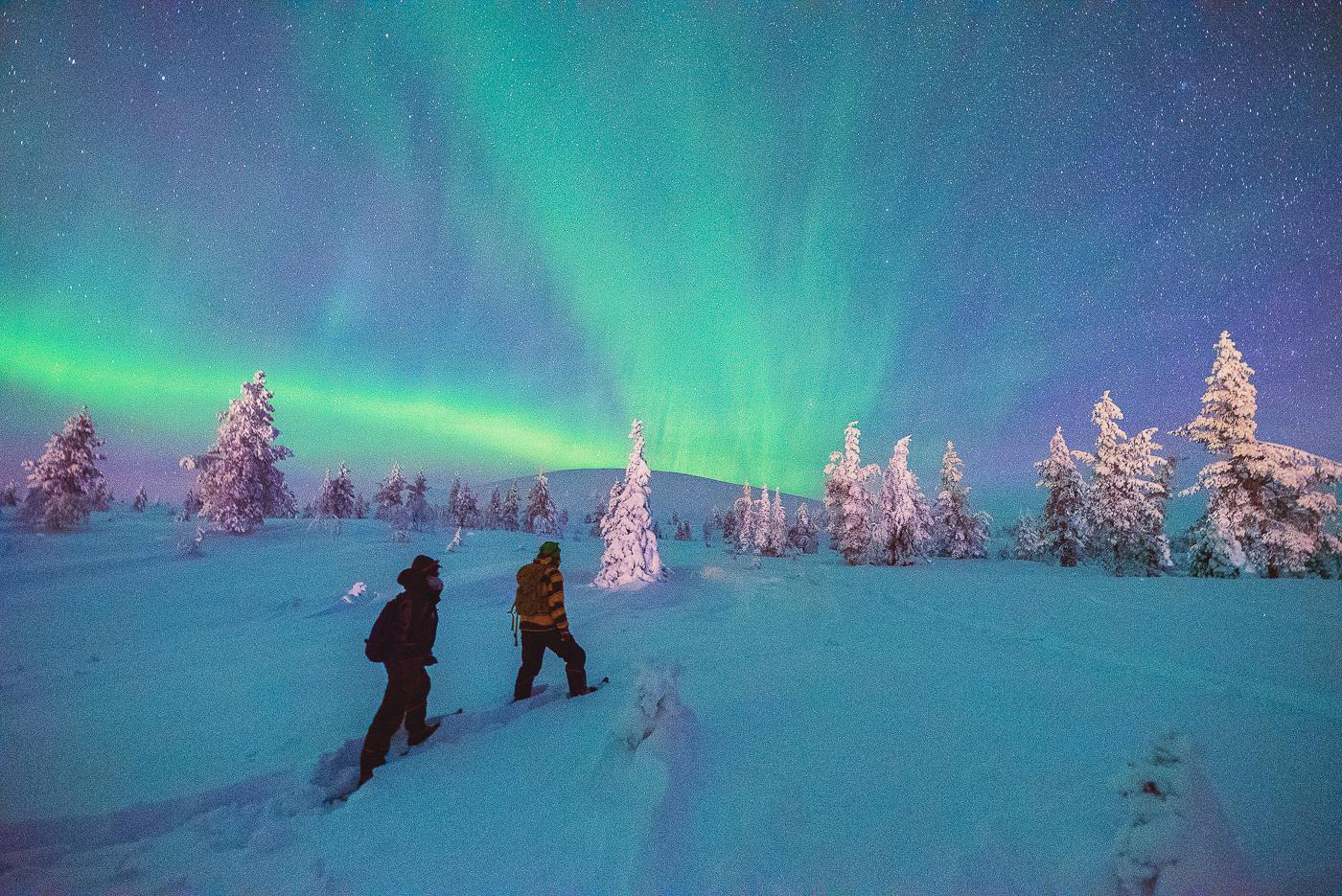 Noorderlicht sneeuwschoenwandeling
