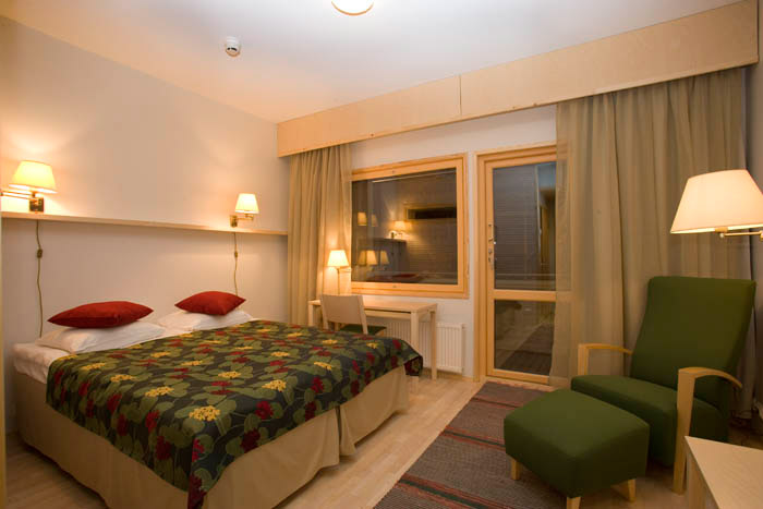 Superior kamer in het River Hotel van het Inari Kultahovi