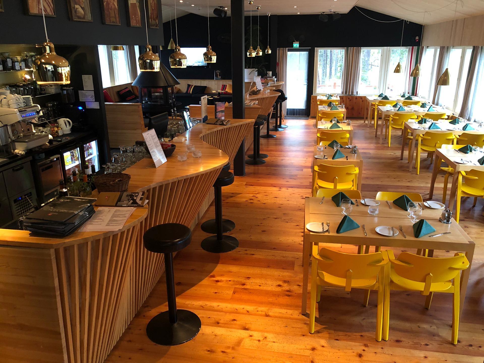 Restaurant van het Inari Kultahovi Hotel